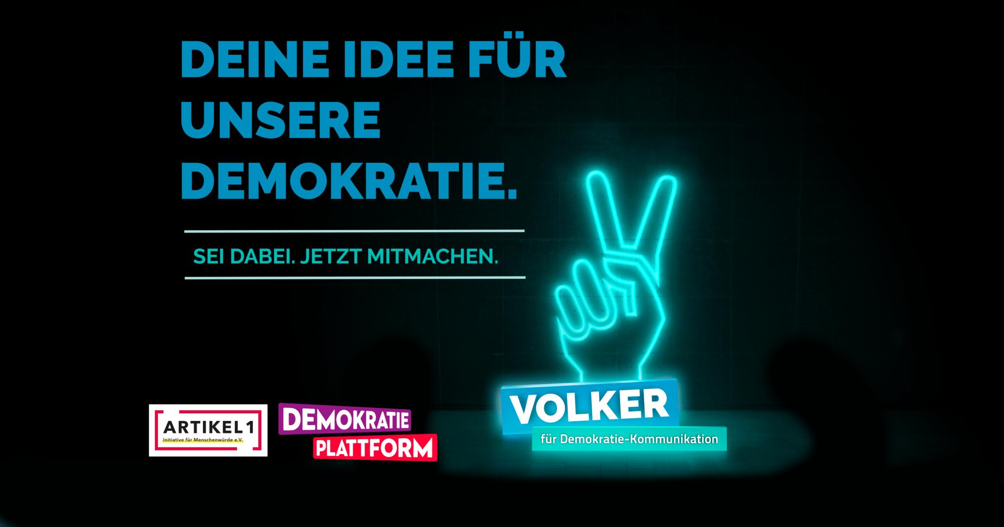 Demokratiewettbewerb VOLKER geht in die nächste Runde